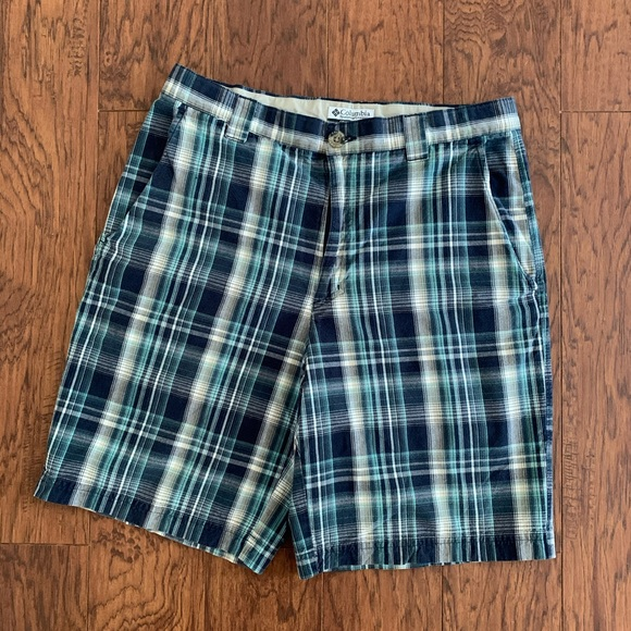 Columbia Other - Columbia Blue Plaid Shorts